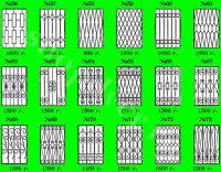 Решетки металлические сварные и кованые.