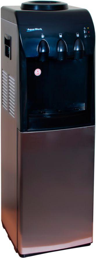 Кулер напольный для воды Aqua Work 833-S-B с холодильником