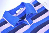 Рубашка-поло трикотажная в крупную сиренево-синюю полоску (последний размер 44)