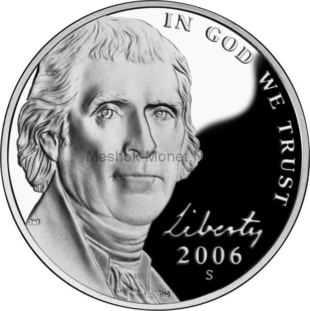 5 центов США Монтичелло