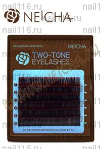 "Ресницы ""NEICHA"" MINI TWO-TONE (двухцв) ""MIX"" black-red (ч-красн) B 0,15 (09,11,13)"