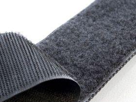 Лента контактная, велкро, липучка. Петельковая часть, черный цвет, ширина 100 мм. Цена за 1 м.