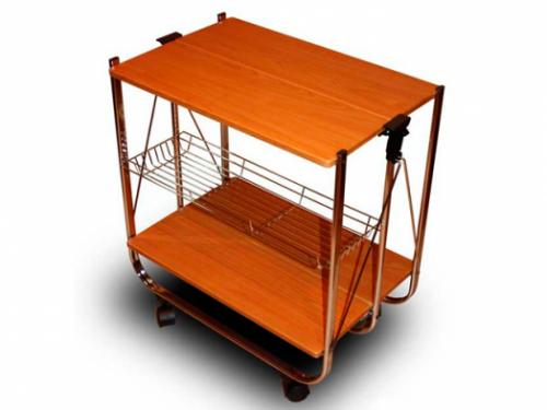Складной сервировочный столик SA016 (вишня)