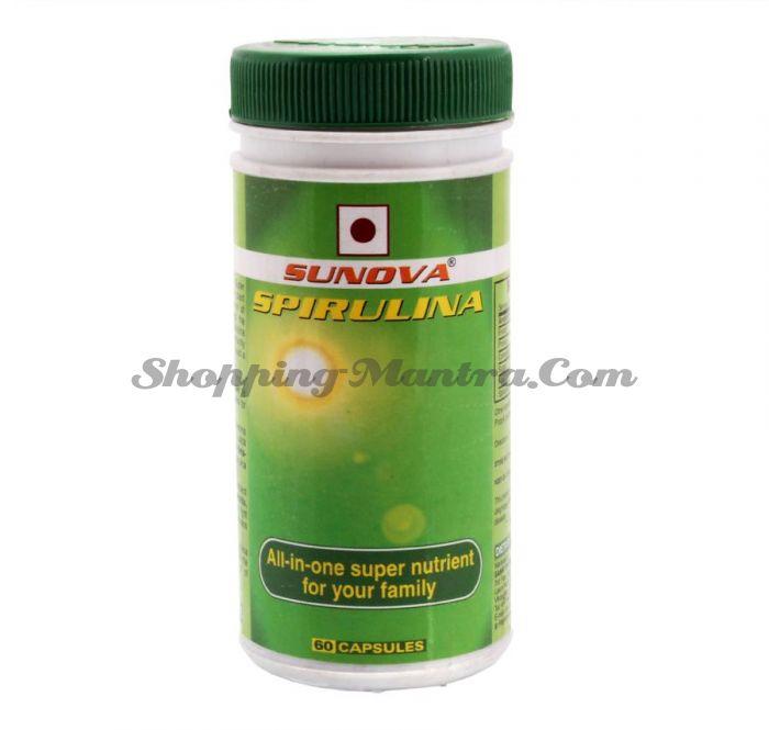 Натуральная пищевая добавка Спирулина 60 капсул Сунова (Sunova Spirulina 60capsules)