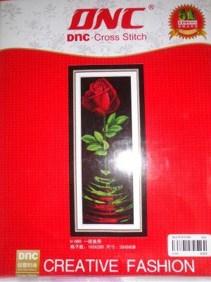 """Купить набор для вышивания крестом """"Роза на чёрном"""" 5D"""