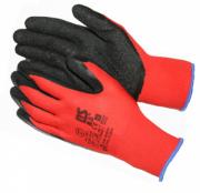 перчатки рабочие нейлоновые 13 класс вязки с толстым слоем вспененного латекса перчатки стекольщика