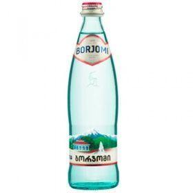 """Минеральная газированная вода """"Боржоми"""" 0,5 л в стекле (в упаковке 12 шт)"""
