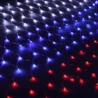 """Гирлянда """"Сетка"""" Ш:2,4 м, В:1 м, нить силикон, LED-360-220V, """"Флаг РОССИИ"""""""
