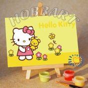 """Картина по номерам """"Hello Kitty. Китти: летнее раздолье"""""""