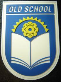 нашивка OLD SCHOOL, без велкро