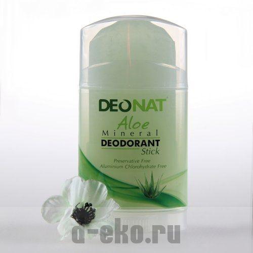 Дезодорант Кристалл - Деонат с соком Алое зеленый, выкручивающийся