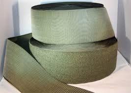 Лента контактная, велкро, липучка. Петельковая часть, хаки цвет, ширина 100 мм. Цена за 1 м.