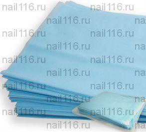 Простынь 70*140 см  голубая (1 шт)