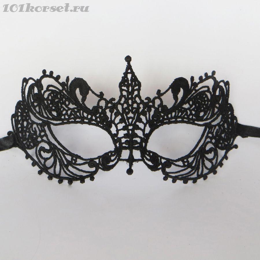 Ажурная черная венецианская маска