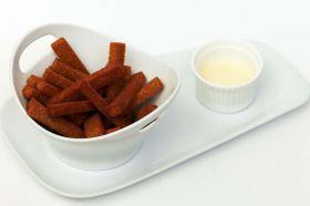 Ржаные гренки с сырным соусом