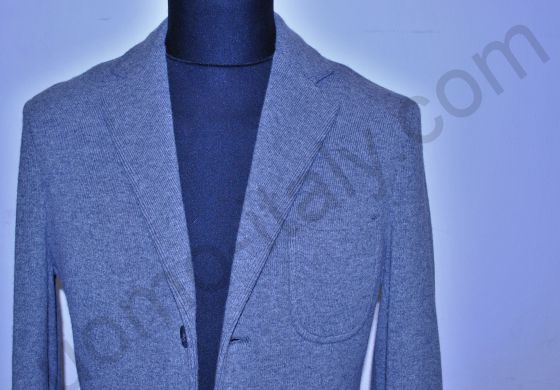(арт.1311) Пиджак светло-серый трикотажный х/ш Yoon (последний размер 54)