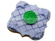 """Имбирные пряники с логотипом """"STARBUCKS"""" с сахарной мастикой"""