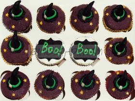 """Капкейки на Хэллоуин """"Ведьмины шляпки"""""""
