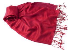 Малиновый шёлковый палантин (под заказ)