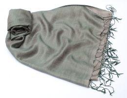 Серебристо-серый шелковый шарф (Москва)