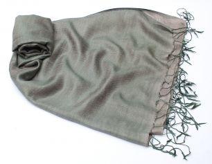 Серебристо-серый шелковый шарф (под заказ)