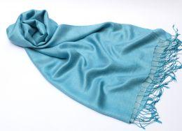 Голубой шелковый шарф (под заказ)