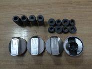 Эл_Ручка управления для плиты  универсальная комплект 4шт (серебро) (WL1030)