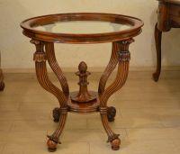 Коктейльный стол из натурального дерева