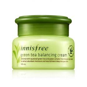 INNISFREE GREEN TEA BALANCING CREAM 50ml - интенсивно увлажняющий крем для комбинированной кожи