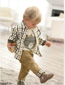 Набор для мальчика рубашка, свитер и брюки