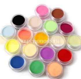 Цветной бархатный песок набор 18 шт .