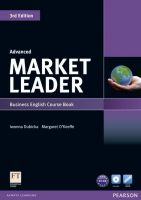 Market Leader Advanced 3rd Edition Course Book and DVD-ROM Pack