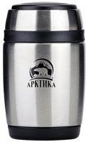 Ланч-бокс для еды Арктика 0,38 литра серебряный металлик