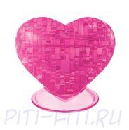 Головоломка CRYSTAL PUZZLE Сердце розовое