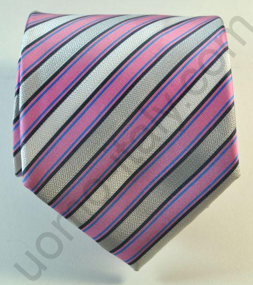 галстук сиреневый в полоску