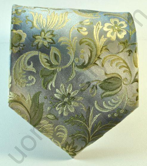 галстук оливковый в огурцы