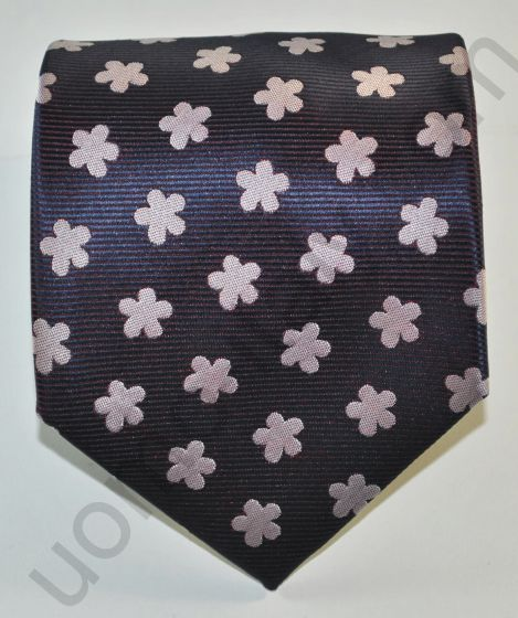 Галстук фиолетовый в крупный цветок
