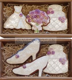 Сладкие подарки на свадьбу Наборы пряников «Свадьба»