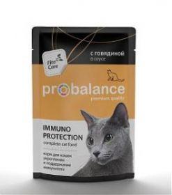 ProBalance Immuno Protection д/кошек с говядиной в соусе. Защита и поддержание иммунитета 85г