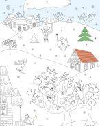 плакат-раскраска Зима вертикальный длинный