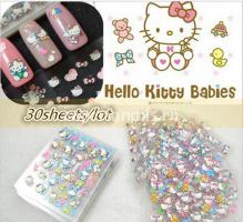 Hello Kitty 3D стикеры набор 30 упаковок