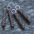 """Брелок плетение """"Винт"""" серый + хаки"""