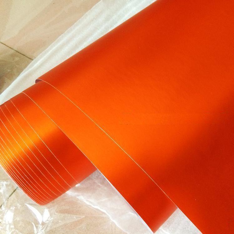 Хром Матовый Оранжевый
