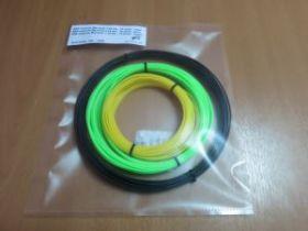 Комплект ABS-Пластика для 3D ручек Myriwell 1.75 мм, (белый, зеленый, желтый)