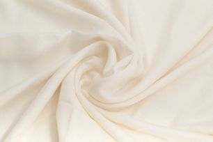 Белый палантин из шерсти с кашемиром, 200 х 70 см (под заказ)