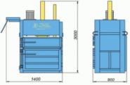 Пресс гидравлический пакетировочный ПГП-15МС