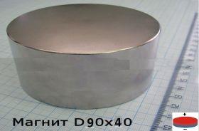 Магнит неодимовый 90х40 мм 350 кг