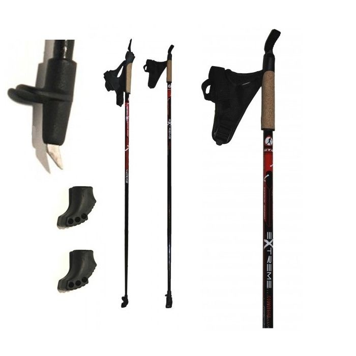 Палки для скандинавской ходьбы STC Extreme (100% стекловолокно)