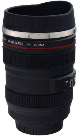Металлическая кружка объектив Canon 400 мл