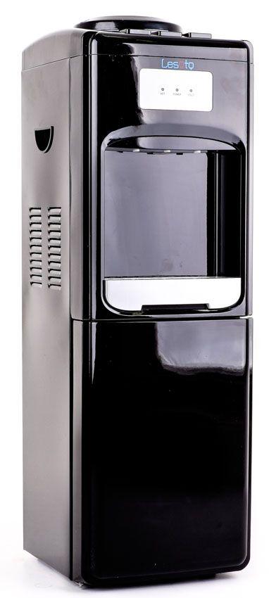 Кулер для воды Lesoto 333 L-B black с холодильником